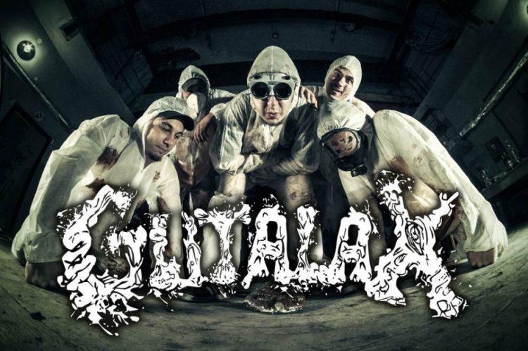 Чеський гурт «Gutalax» у своїх сценічних костюмах. Джерело - http://www.obsceneextreme.cz/en/a/60/fanzine,gutalax-interview